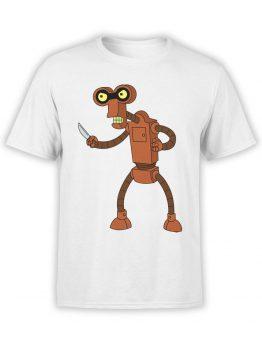 1189 Futurama T Shirt Roberto Front