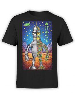 1190 Futurama T Shirt Bender Art Front
