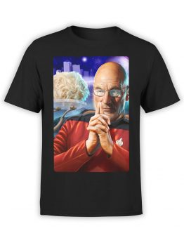 1191 Star Trek T Shirt Jean Luc Picard Front