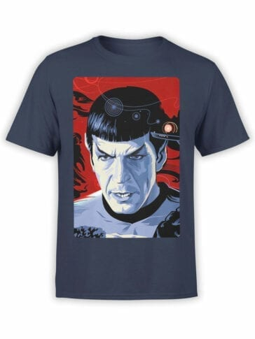 1192 Star Trek T Shirt Spock Front