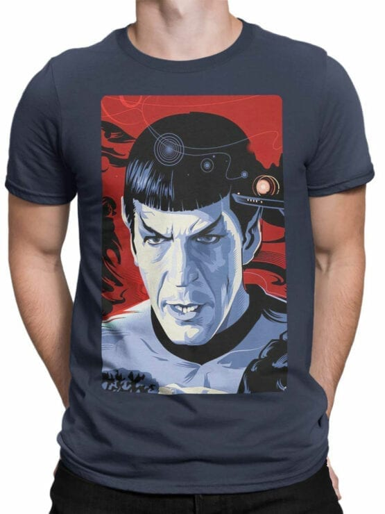 1192 Star Trek T Shirt Spock Front Man