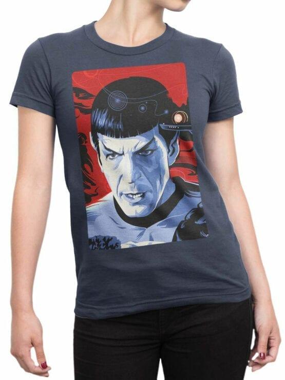 1192 Star Trek T Shirt Spock Front Woman