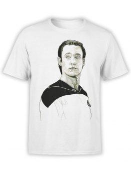 1193 Star Trek T Shirt Data Front