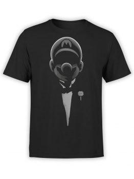 1201 Super Mario T Shirt Godfather Mario Front