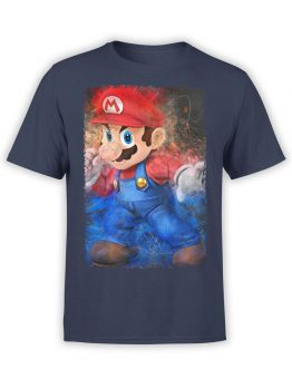 1203 Super Mario T Shirt Draft Front
