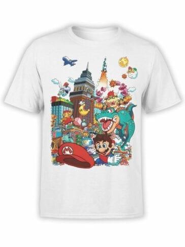 1204 Super Mario T Shirt Characters Front