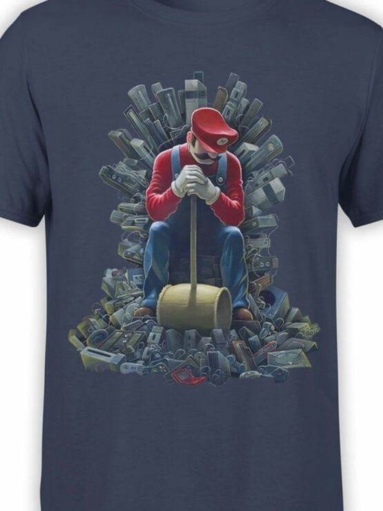 1205 Super Mario T Shirt Game of Mario Front Color