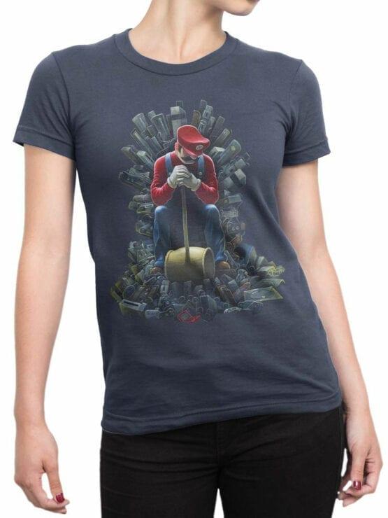 1205 Super Mario T Shirt Game of Mario Front Woman