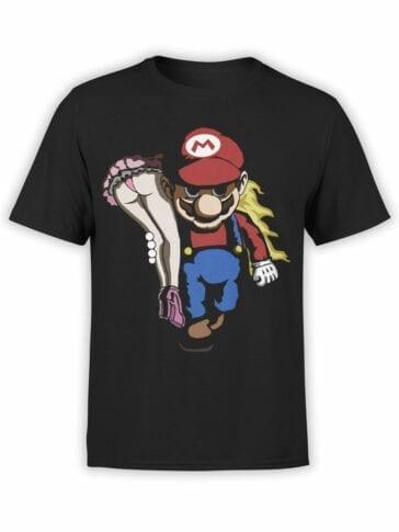 1207 Super Mario T Shirt Rape Front