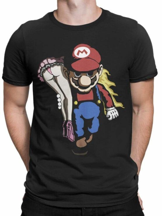 1207 Super Mario T Shirt Rape Front Man