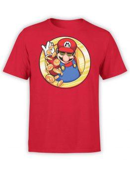 1208 Super Mario T Shirt Cool Front
