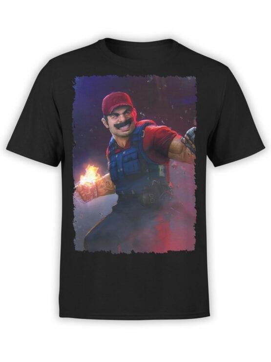 1209 Super Mario T Shirt Rage Front