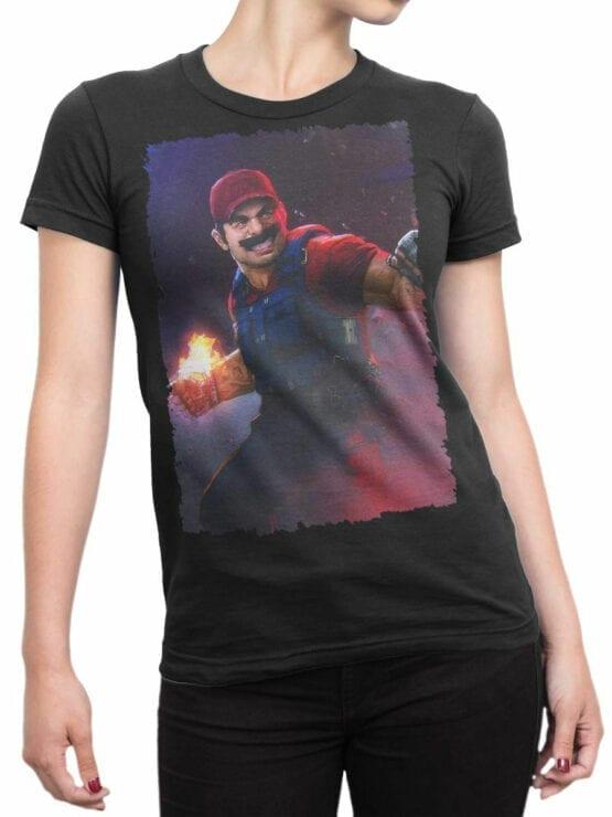 1209 Super Mario T Shirt Rage Front Woman