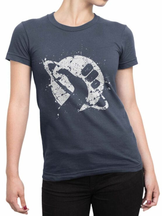 1211 The Hitchhikers Guide to the Galaxy T Shirt Logo Front Woman