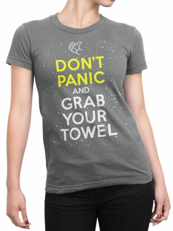 1212 The Hitchhikers Guide to the Galaxy T Shirt Towel Front Woman