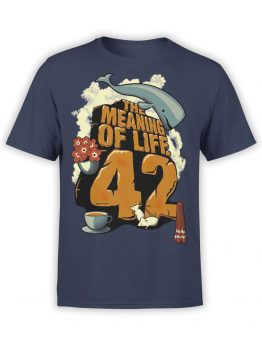 1214 The Hitchhikers Guide to the Galaxy T Shirt Meaning Front