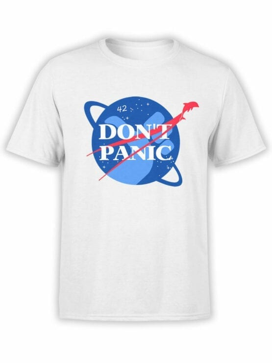 1219 The Hitchhikers Guide to the Galaxy T Shirt NASA Front