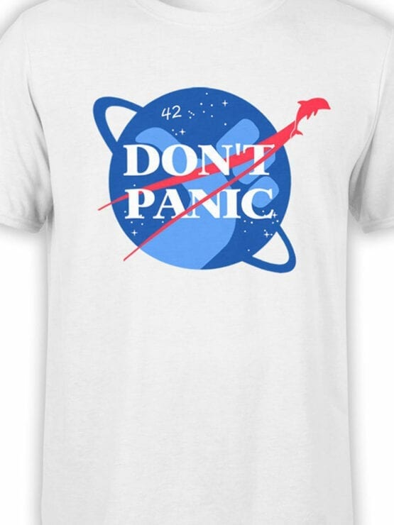 1219 The Hitchhikers Guide to the Galaxy T Shirt NASA Front Color