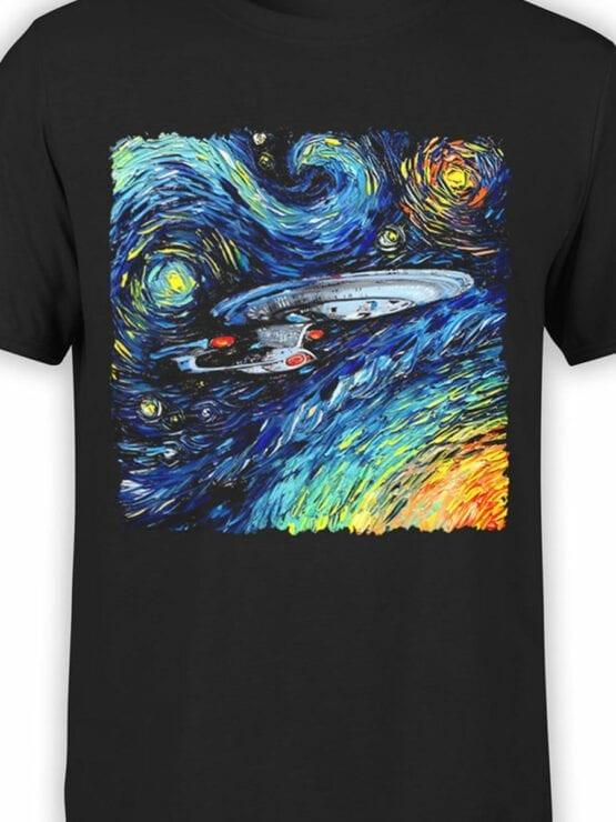 41194 Star Trek T Shirt Van Gogh Enterprise Front Color