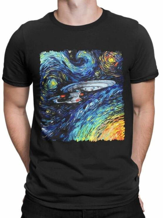 41194 Star Trek T Shirt Van Gogh Enterprise Front Man