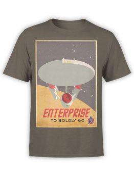 41197 Star Trek T Shirt Retro Enterprise Front