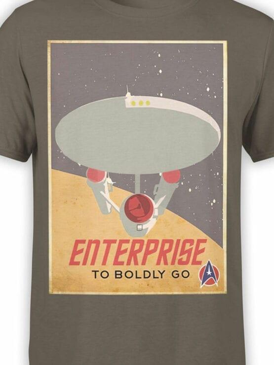 41197 Star Trek T Shirt Retro Enterprise Front Color