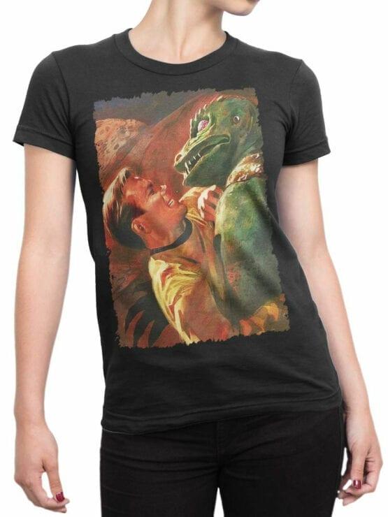 41198 Star Trek T Shirt Battle Front Woman