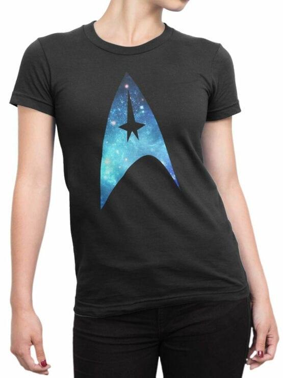 41200 Star Trek T Shirt Logo Front Woman