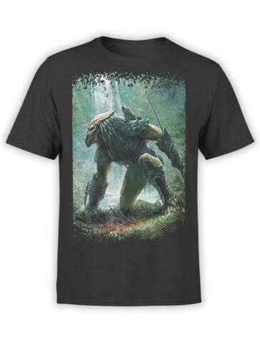 1221 Alien T Shirt Hunting Front