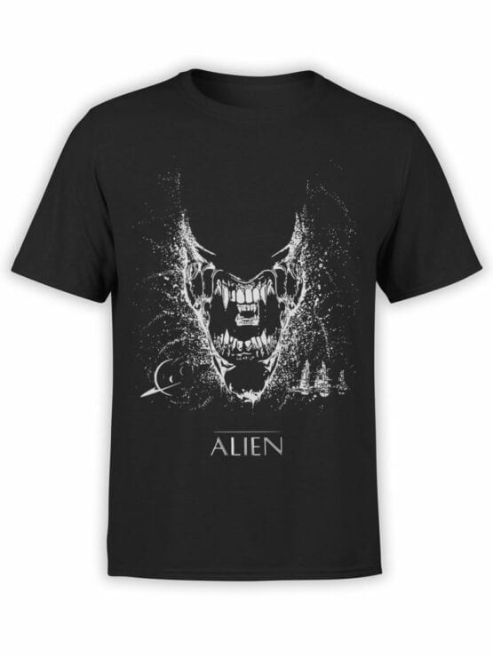 1222 Alien T Shirt Black Front