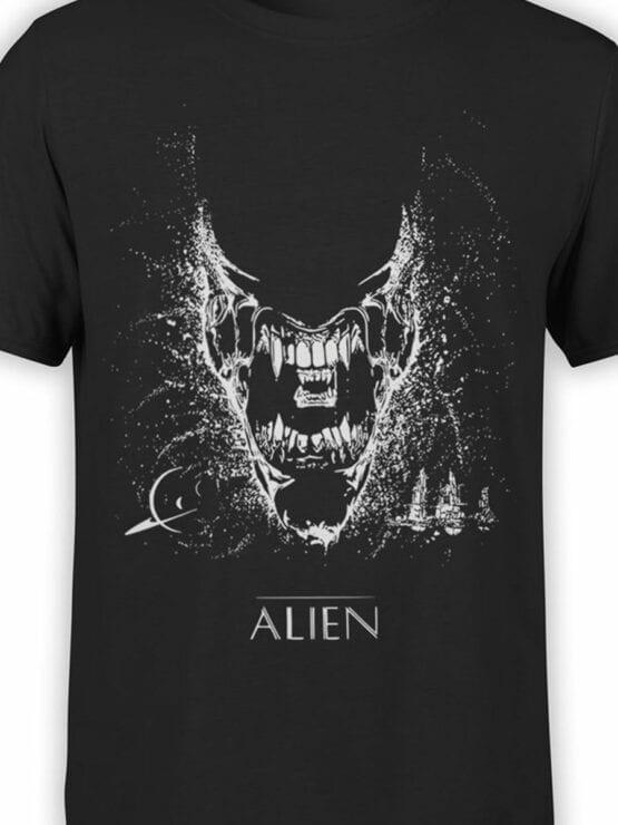 1222 Alien T Shirt Black Front Color