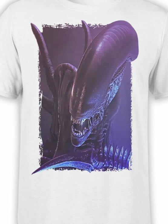 1223 Alien T Shirt Danger Front Color