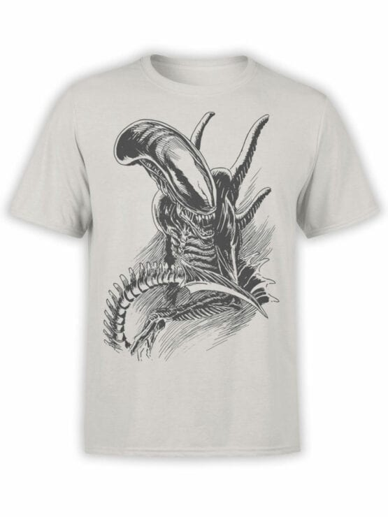 1230 Alien T Shirt Drawing Front
