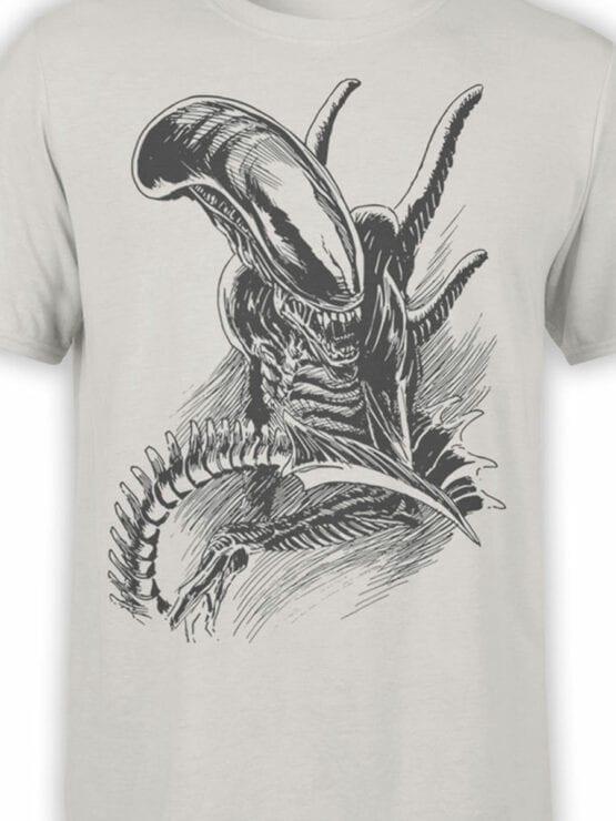 1230 Alien T Shirt Drawing Front Color