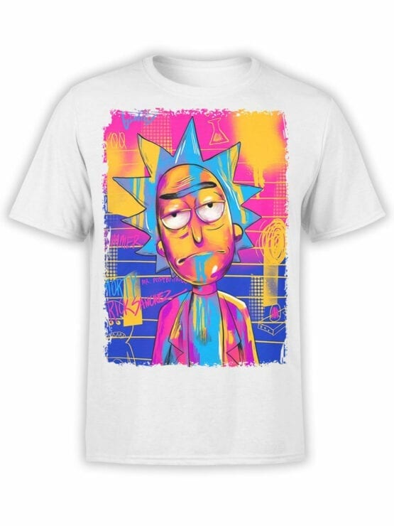1231 Rick and Morty T Shirt Colored Front