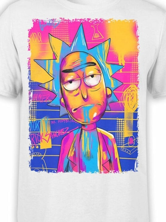 1231 Rick and Morty T Shirt Colored Front Color