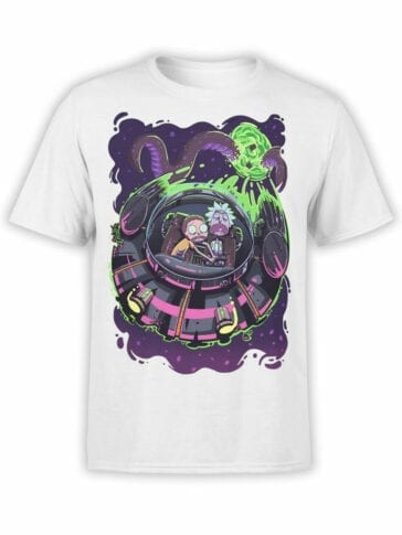 1232 Rick and Morty T Shirt Sleep Front