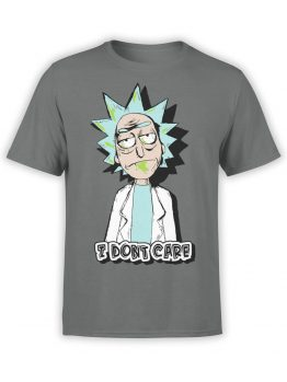 1235 Rick and Morty T Shirt Dont Care Front