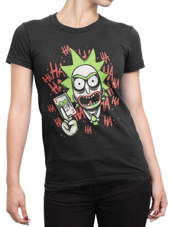 1236 Rick and Morty T Shirt Jocker Front Woman