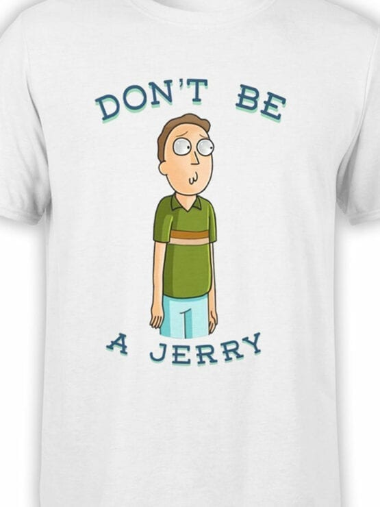1237 Rick and Morty T Shirt Jerry Front Color