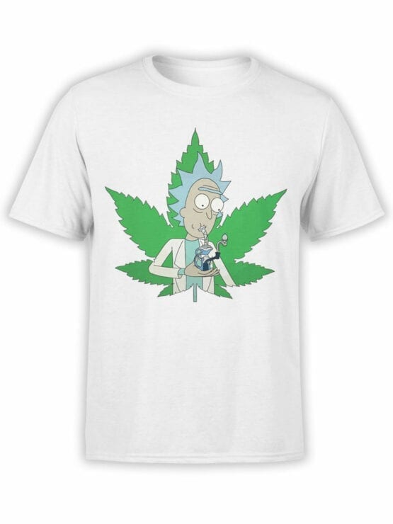1238 Rick and Morty T Shirt 420 Front