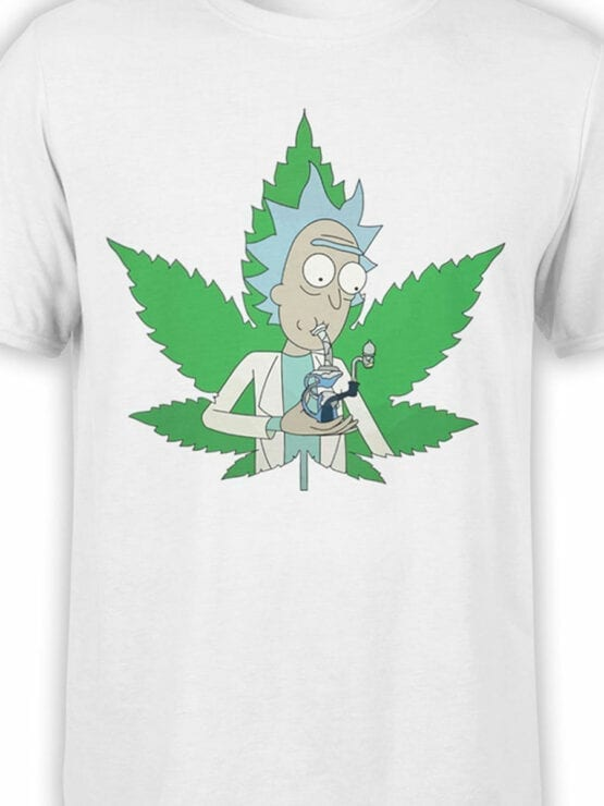 1238 Rick and Morty T Shirt 420 Front Color