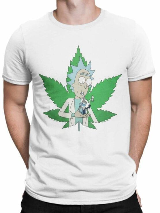 1238 Rick and Morty T Shirt 420 Front Man