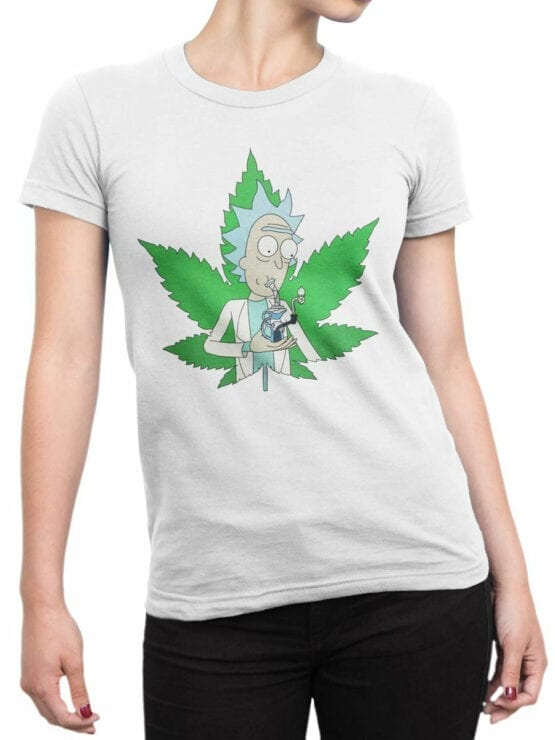 1238 Rick and Morty T Shirt 420 Front Woman