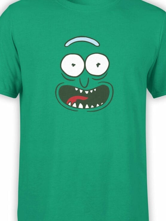 1240 Rick and Morty T Shirt Pickle Front Color