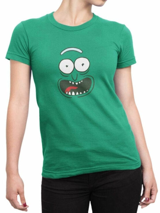 1240 Rick and Morty T Shirt Pickle Front Woman