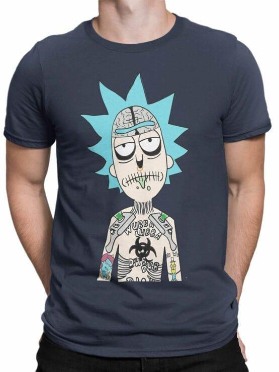 1241 Rick and Morty T Shirt Tatoo Front Man