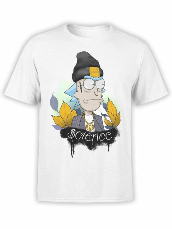 1242 Rick and Morty T Shirt Gangsta Front