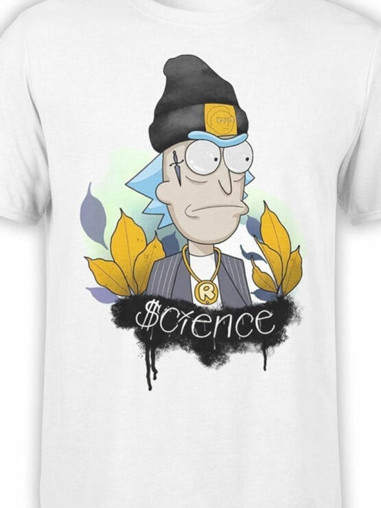 1242 Rick and Morty T Shirt Gangsta Front Color
