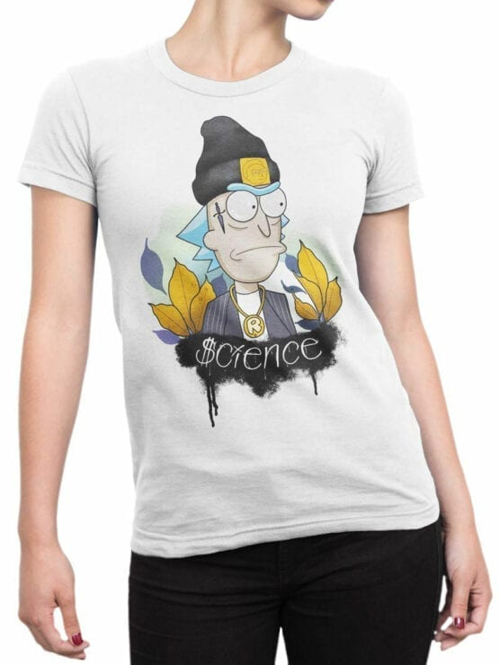 1242 Rick and Morty T Shirt Gangsta Front Woman